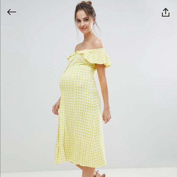 ce3255e0c7e04 ASOS Maternity Dresses | Off Shoulder Button Sundress | Poshmark